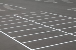 Clean up oil stains to keep up a nice parking lot